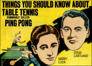 Old Movie poster about table tennis