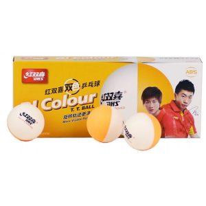 Bi-color table tennis balls